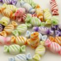 Acrylic beads, Assortment of colours, Irregular shape, 5mm x 5mm x 15mm, 50g, 120 beads, (YKL0007)